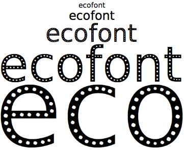 ecofont tipografía para ahorro de tinta de la impresora quecartucho blog