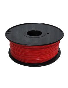 Bobina Filamento ABS Fluorescente ROJO para impresora 3D 1.75 mm 1KG