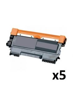 Pack de 5 toners TN2320 / TN2310 / TN660 compatible a Brother TN-2320 / TN-2310 / TN-660