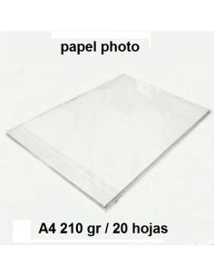 Papel fotografico A4 210 gr paquete 20 folios