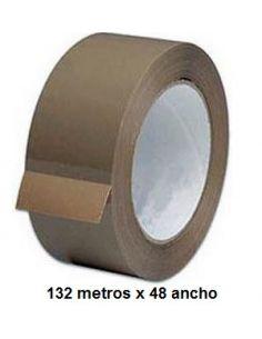 Rollo precinto marrón / Cinta adhesiva de polipropileno marón tamaño 132 metros x 48 ancho