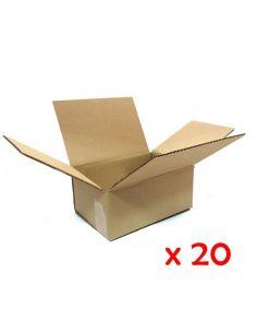 Caja de embalaje de canal simple medida 23.5x16.0x10.4 cm