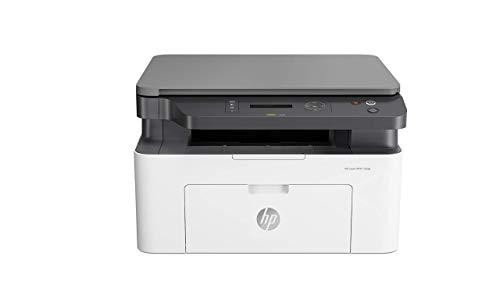 HP Laser MFP 135a - Impresora láser multifunción (imprime, copia y escanea, 20 ppm, LED, USB 2.0 de alta velocidad), blanco