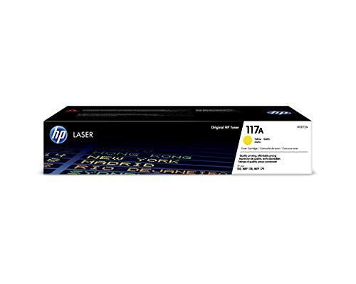 HP 117A W2072A, Amarillo, Cartucho Tóner Original, de 700 páginas, para...