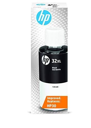 HP 32XL 1VV24AE, Negro, Botella de Tinta de Alta Capacidad Original,...