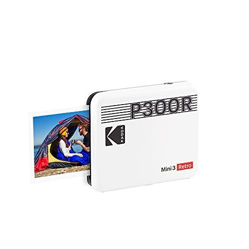 Kodak Mini 3 Retro Impresora de Fotos Portátil con Tecnología 4Pass, Foto...
