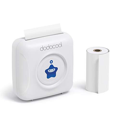 dodocool Mini Impresora Térmica Movil Inalámbrica Pequeña Bluetooth...