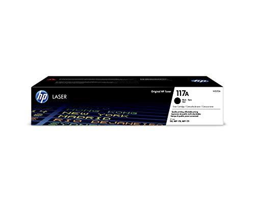 HP 117A W2070A, Negro, Cartucho Tóner Original, de 1.000 páginas, para...