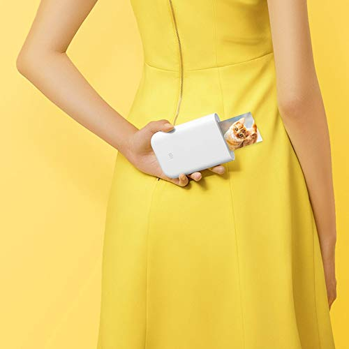 Xiaomi - Impresora fotográfica portátil 300 PPP Pocket Mini AR con DIY Share 500 mAh