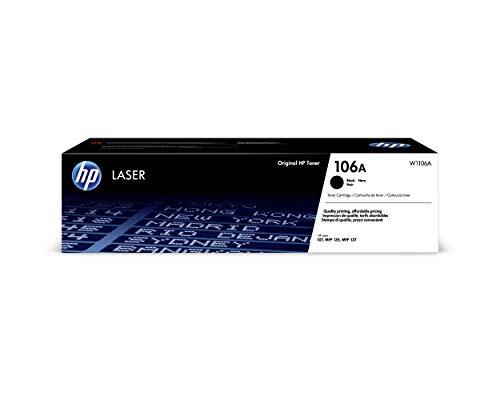 HP 106A W1106A, Negro, Cartucho Tóner Original, de 1.000 páginas, para...