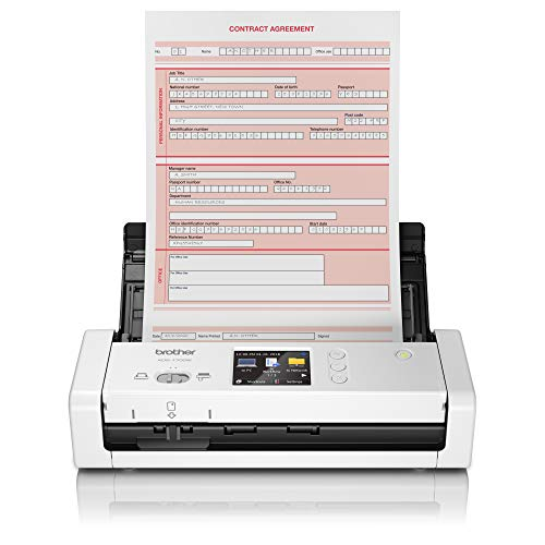 Brother ADS-1700W - Escáner departamental Compacto y Potente (hasta 25hpm,...