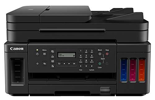 Canon PIXMA G7050- Impresora Multifuncional WiFi de inyección de Tinta con Fax y ADF, Negra + 3 Botella de Tinta Negra Extra
