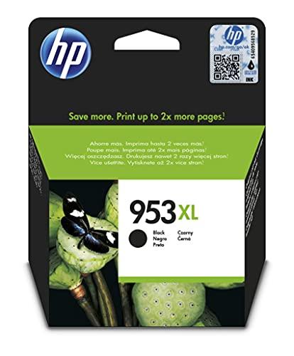 HP 953XL L0S70AE, Negro, Cartucho de Tinta de Alta Capacidad Original,...