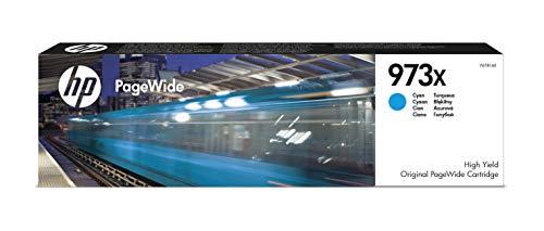 HP 973X F6T81AE, Cian, Cartucho de Tinta de Alta Capacidad PageWide...