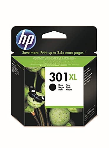 HP 301XL CH563EE, Negro, Cartucho de Tinta de Alta Capacidad Original,...