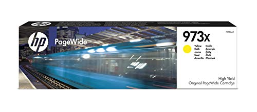 HP 973X F6T83AE, Amarillo, Cartucho de Tinta de Alta Capacidad PageWide...