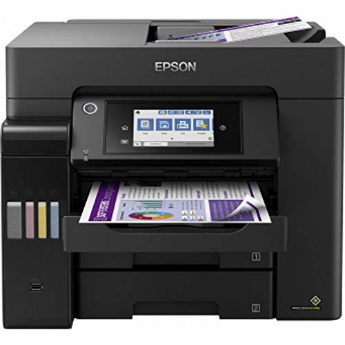 Epson EcoTank ET-5850 - Impresora multifunción 4 en 1 (Copia, escaneo, impresión, fax, A4, ADF, Full-Duplex, WiFi, Ethernet, Pantalla, USB 2.0), Gran Capacidad de Respuesta, bajo Coste por página