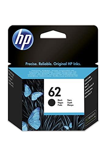 HP 62 C2P04AE, Negro, Cartucho Original de Tinta, ompatible con impresoras...