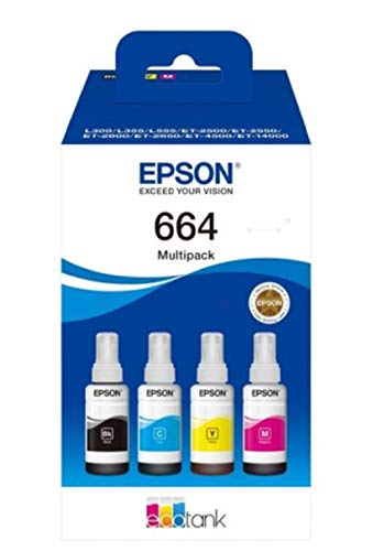 Epson 664 Multipack Tinta 4 Colores para EcoTank