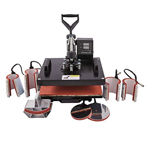 CO-Z 8 en 1 Prensa de Calor 30 X 38CM Impresora para Camisetas con Control...