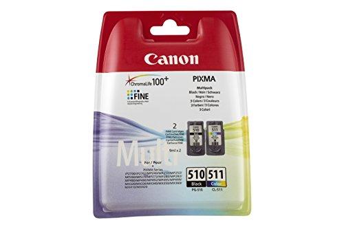 Canon 2970B010AA Cartuchos de tinta BK+Tricolor para Impresora de Inyeccion...