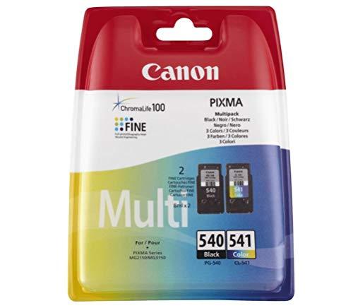 Canon PG-540/CL-541 - Cartucho múltiple (plástico Seguro), Negro + Color