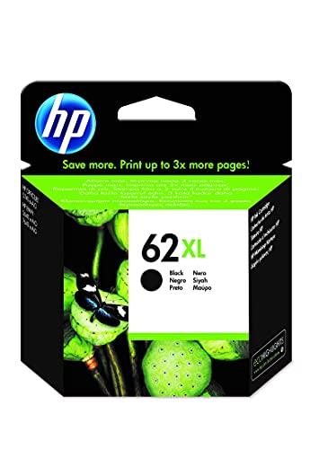HP 62XL C2P05AE, Negro, Cartucho de Tinta de Alta Capacidad Original,...