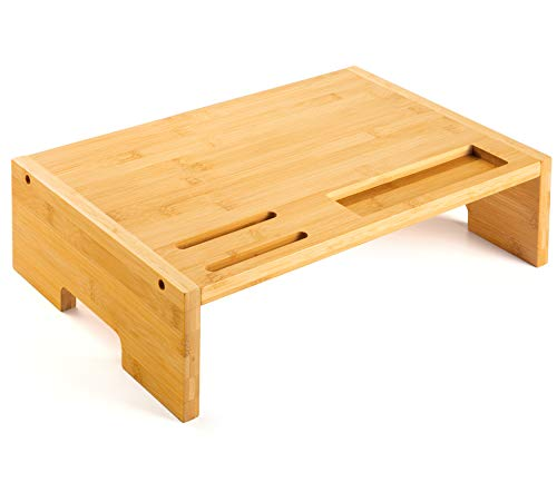 Amada Soporte de Monitor de Bambú con Soporte para Móvil Inteligente y...