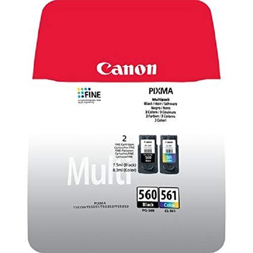 Canon PG-560+CL-561 - Pack con Cartucho de Tinta Original BK y Color para...