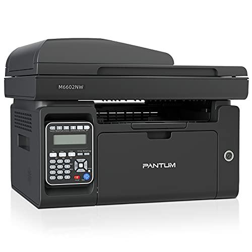 Pantum M6602NW Impresora láser monocromo todo en uno Fax con Ethernet...