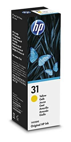HP 31 1VU28AE, Amarillo, Botella de Tinta Original, compatible con...