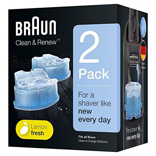 Braun Clean&Renew Cartuchos de recarga para afeitadora eléctrica hombre, 2...