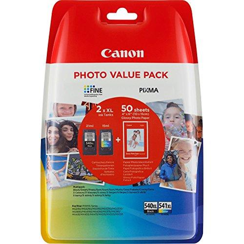 Canon PG-540XL+CL-541XL Cartuchos de tinta BK+Tricolor XL para Impresora de...