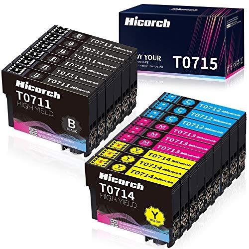 Hicorch T0715 Cartuchos de Tinta para Epson T0711 T0712 T0713 T0714...