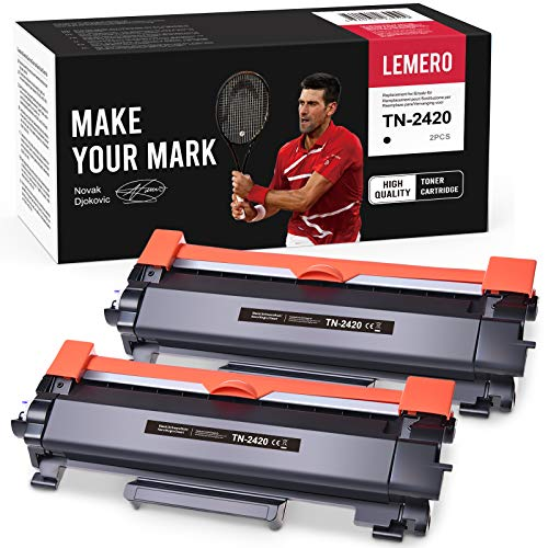 2 LEMERO Toner Compatible para Brother TN-2420 TN2420 TN-2410 [con Chip]...