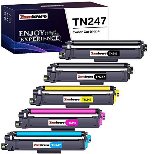 Zambrero Compatible Brother TN247 TN243 TN-247 TN-243 Cartucho de Tóner...