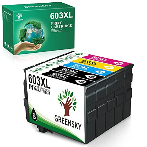 GREENSKY Cartucho de Tinta Compatible para Epson 603 603XL para Epson...