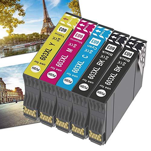 OGOUGUAN 603XL Cartuchos de repuesto para 603 XL cartuchos compatibles con...