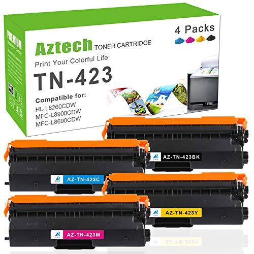 Aztech Cartucho de tóner compatible para Brother TN423 TN421 TN-423 TN-421...