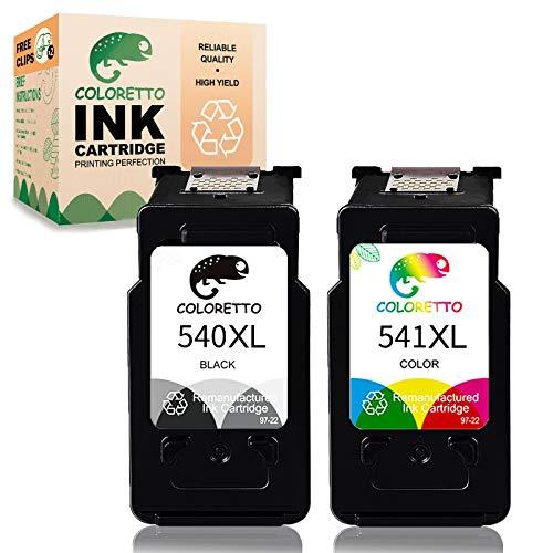 COLORETTO Cartucho de Tinta Remanufacturado para Canon Pg-540XL Cl-541XL...