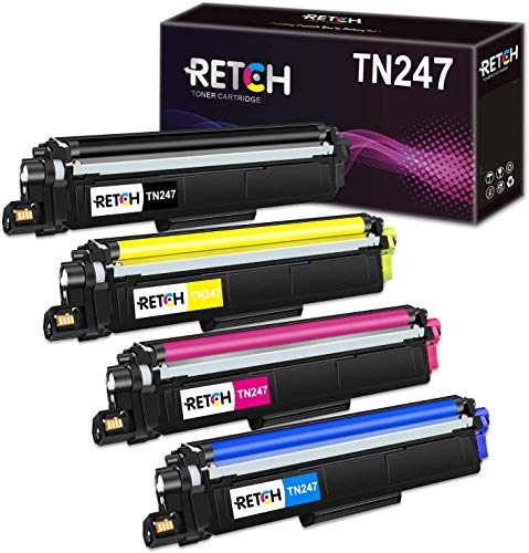 RETCH Tóner de repuesto para Brother TN247 TN243 TN-247 TN-243 para...