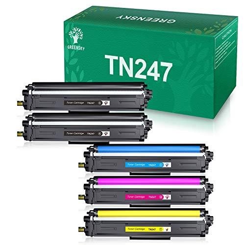 GREENSKY Cartucho de Tóner Compatible Repuesto para Brother TN247 TN243...
