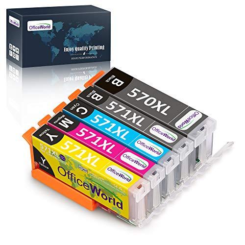 OfficeWorld - Cartuchos de tinta para Canon PGI-570 CLI-571 (compatible con...