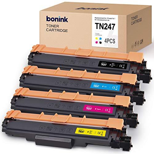 [con Chip] BONINK Compatible con Brother TN-247 TN247 TN-243 Tóner para...