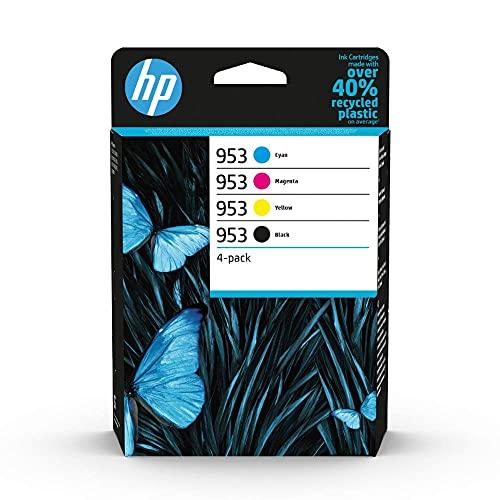 HP 953 6ZC69AE, Negro, Cian, Magenta y Amarillo, Cartuchos de Tinta...