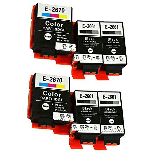 Caidi® - Cartuchos de tinta compatibles con Epson 266 267 T2661 T2670 para...