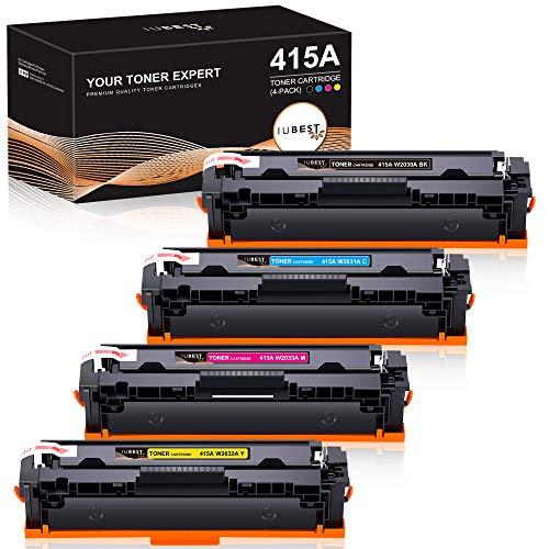 IUBEST Reemplazo de cartucho de tóner compatible para HP 415A 415X W2030A...