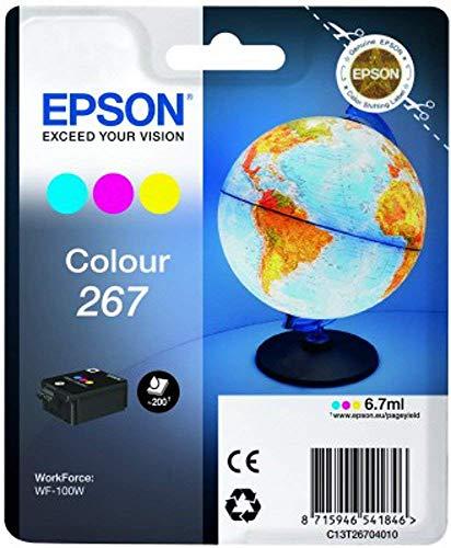 Epson WorkForce - Tinta, color cian, magenta y amarillo válido para EPSON...