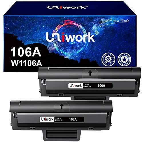 Uniwork 106A Reemplazo de Cartuchos de tóner Compatible para HP 106A...