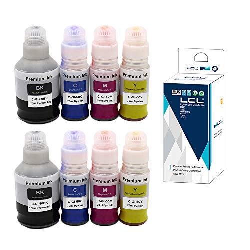 LCL Botella de Tinta Compatible GI-50 GI-50PGBK GI-50BK GI-50C GI-50M...